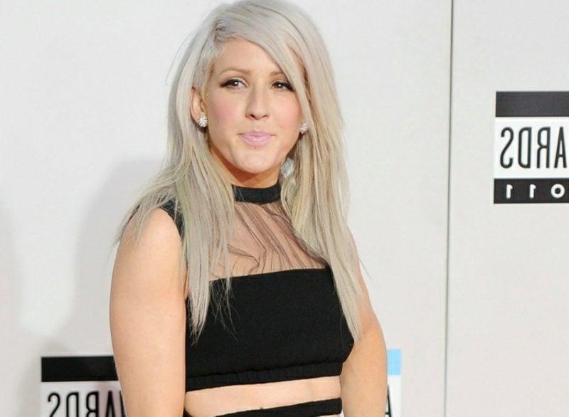 Haarfarbe Silberblond Seitenscheitel Ellie Goulding