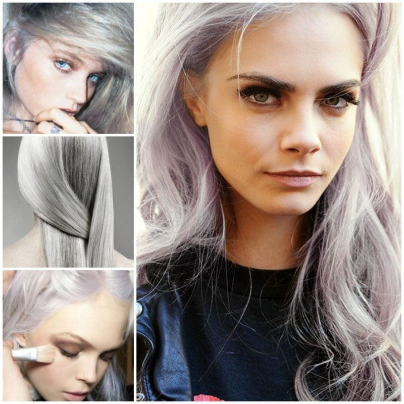 Haarfarbe Silberblond moderne Looks