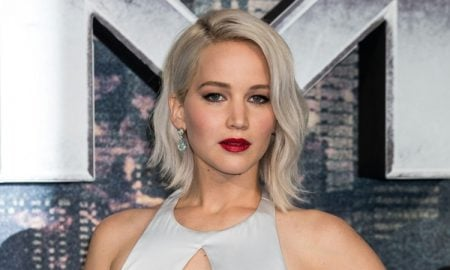Haarfarbe Silberblond stilvoll Jennifer Lawrence