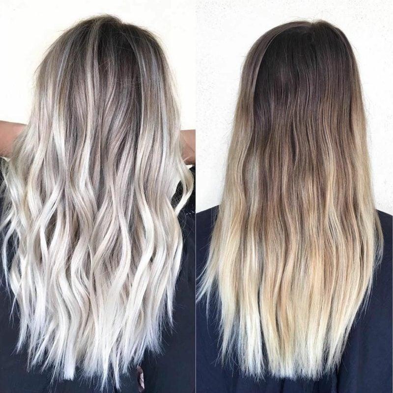 Haarfarbe Silberblond trendy stilvoll