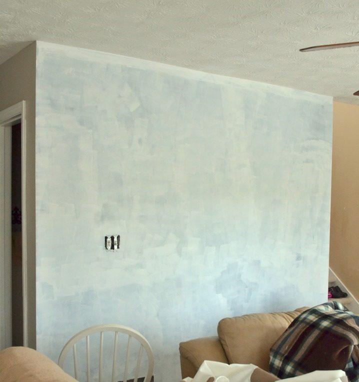 Wohnzimmer Wandgestaltung mit geometrischen Figuren - DIY Anleitung