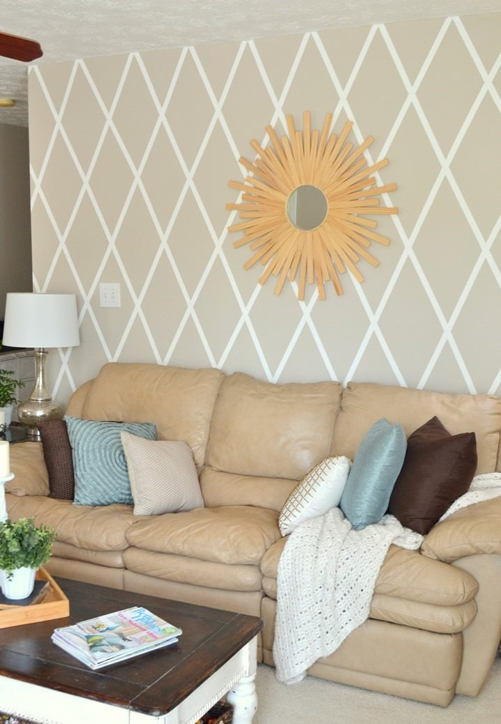 Wohnzimmer Wandgestaltung - kreativ mit Washi Tape selber machen