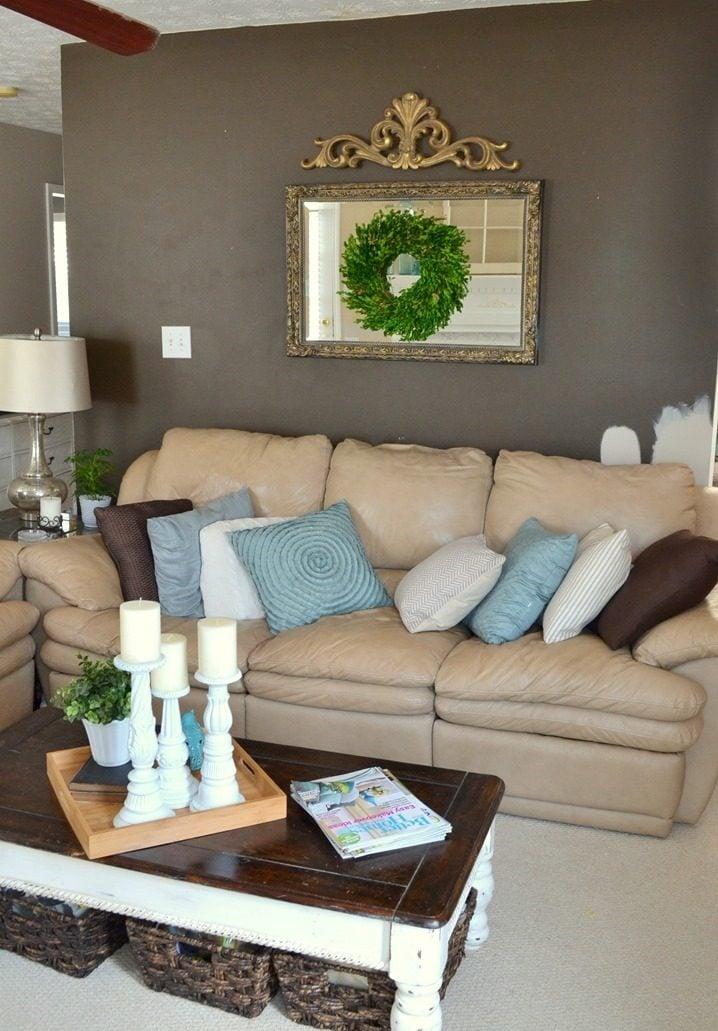 Wände gestalten Wohnzimmer - DIY Ideen