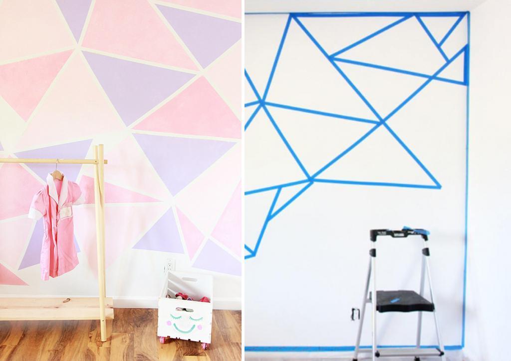 Wanddeko Wohnzimmer mit Washi Tape gestalten