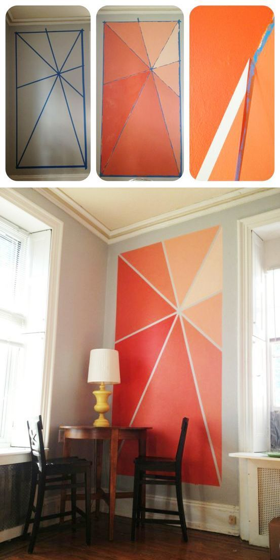 Kreative Wandgestaltung Wohnzimmer - DIY Ideen zum Selber machen