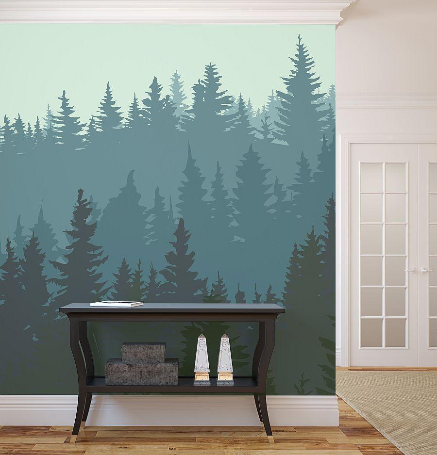 Wohnzimmer Wand für eine Wald im Wohnzimmer