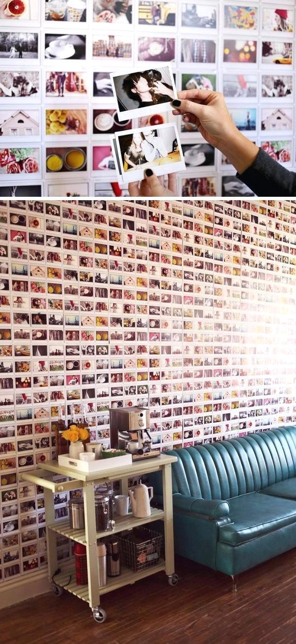 Wände gestalten mit Fotos im Wohnzimmer