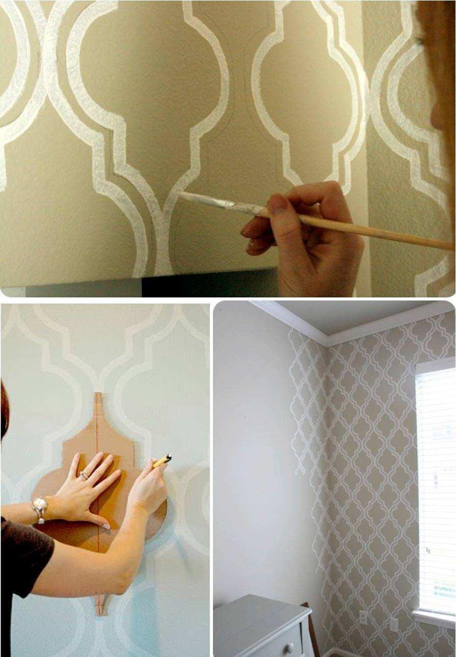 Wohnzimmer Wände gestalten mit geometrischen Figuren