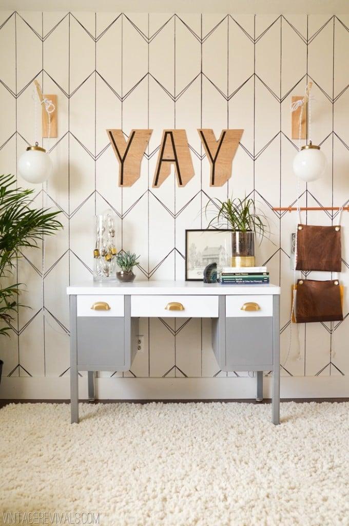 Wohnzimmer Wand streichen - Kreative Ideen zum Selbermachen