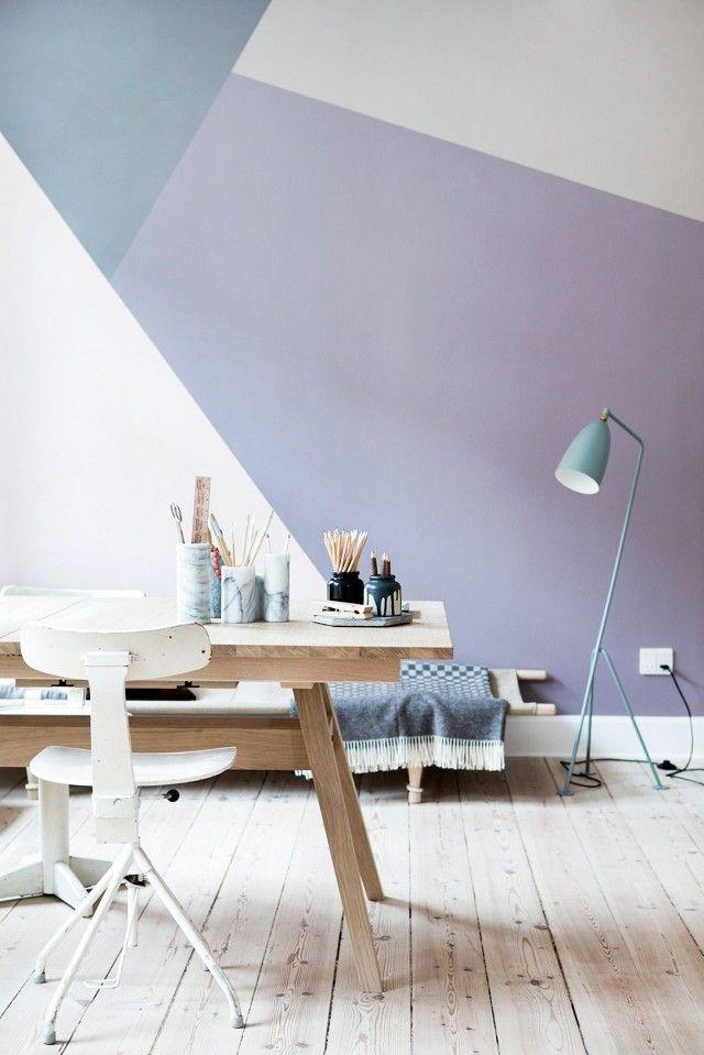 Wohnzimmer Wandgestaltung modern - Wohnzimmer Wand mit Washi Tape gestalten