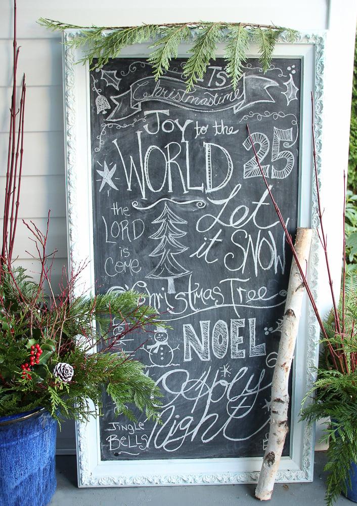 Deko für Weihnachten: Die schwarze Tafel in Kernstück Ihrer Weihnachtsdekoration verwandeln