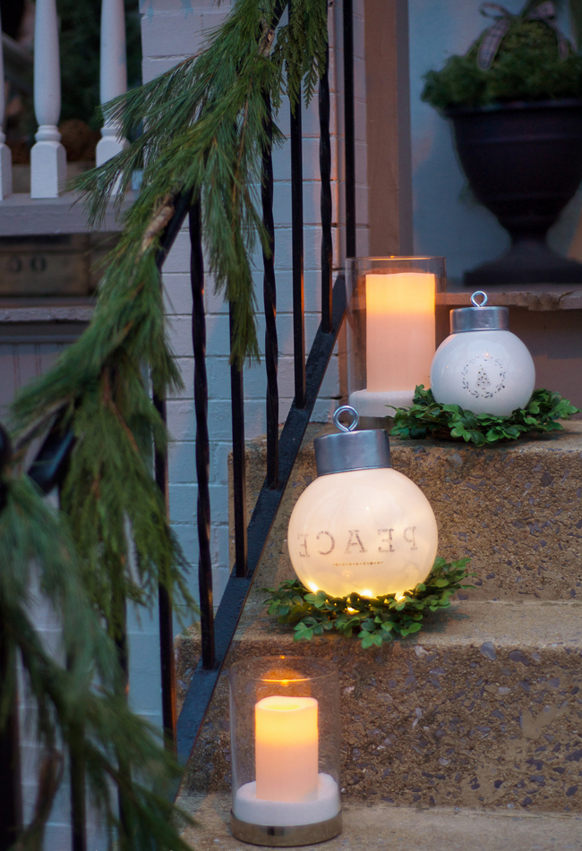 LED Weihnachtsbeleuchtung außen: Laterne außen platzieren