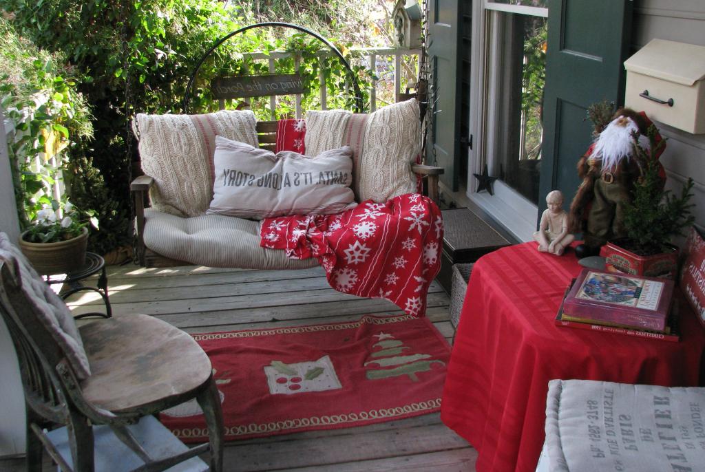 Wunderschöne Ideen für Weihnachtsdekoration für den Garten