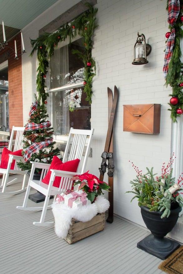 Die besten Ideen für Weihnachtsdekoration: Mit Schlitten dekorieren