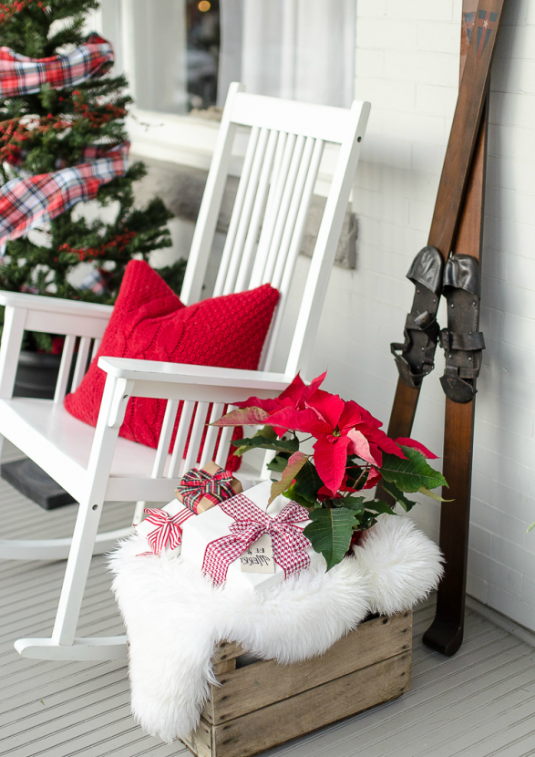 Wunderschöne Ideen für Weihnachtsdeko Eingangsbereich