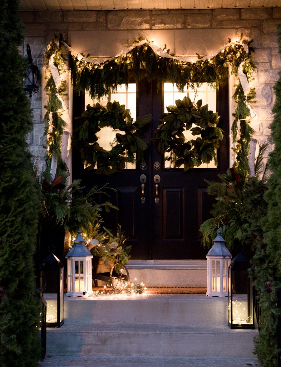 Unter der Nacht sieht die Weihnachtsdeko draußen immer herrlicher aus!