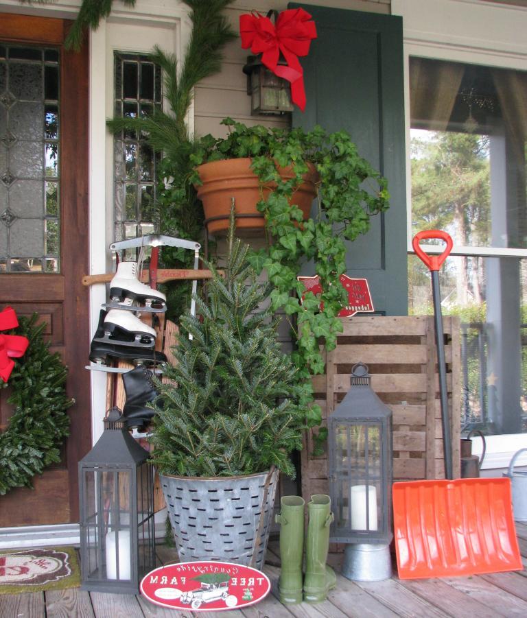 Weihnachtsdekoration für den Garten und die Veranda