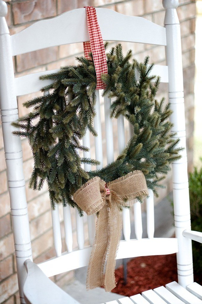 Weihnachtsdeko draußen: Weihnachtskranz zum Nachmachen