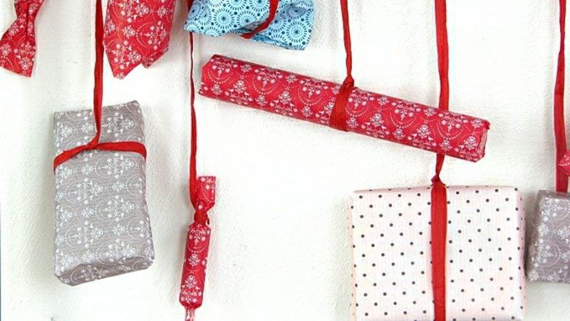 Originelle Adventskalender selber machen Geschenke verpacken und aufhängen