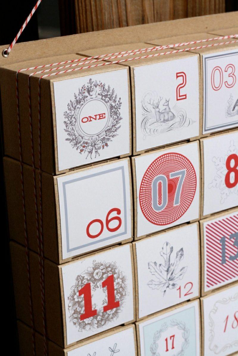 Originelle Adventskalender selber machen Schachteln Karton