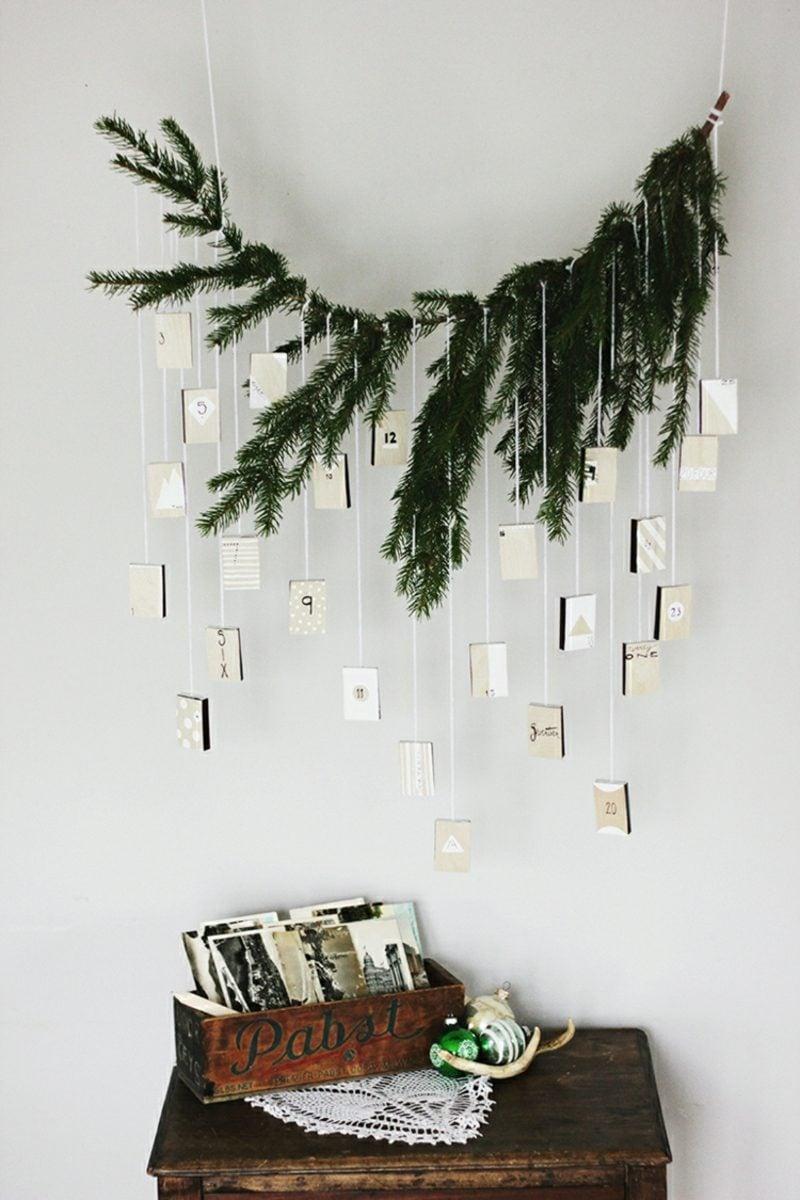 Originelle Adventskalender selber machen Streichholzschachteln aufhängen