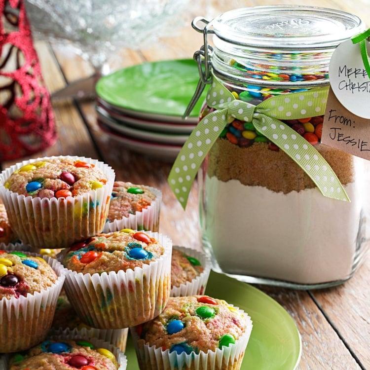 essbare Geschenke im Glas Backmischung Muffins Einmachglas