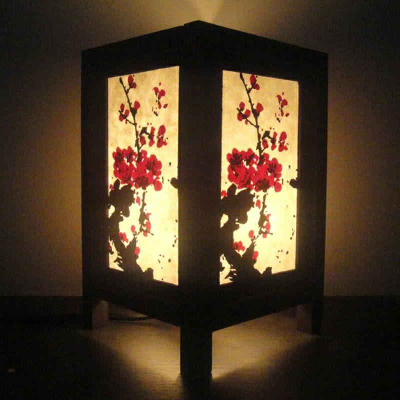 orientalische Lampen freistehende Lampe Bambus