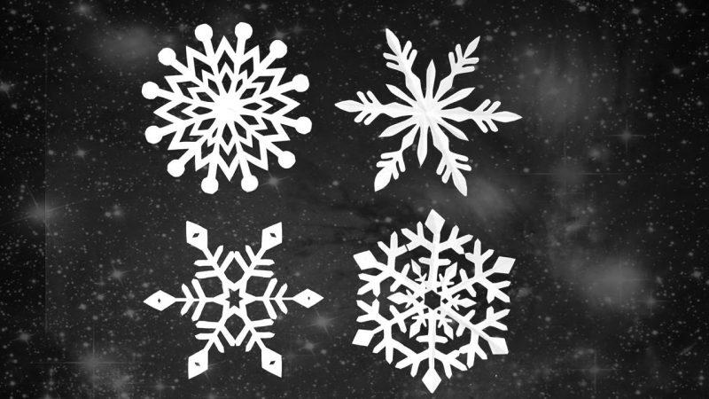 Schneeflocken basteln tolle Deko Winter Weihnachten