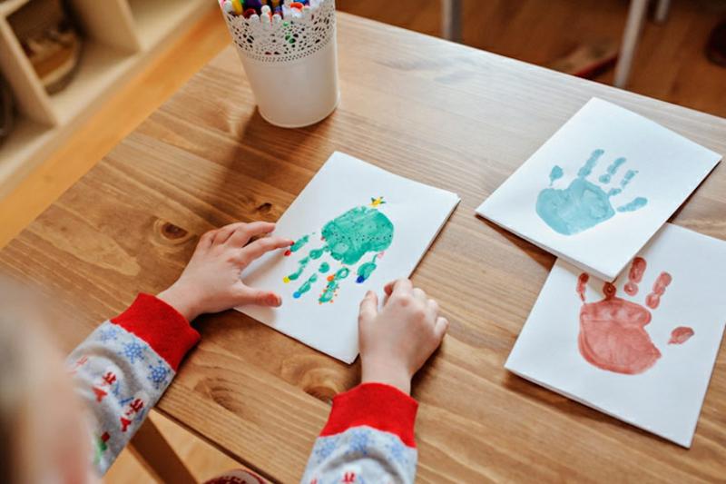 Handabdruck Bilder Ideen.Basteln Mit Handabdruck Weihnachten Inspirierende Ideen