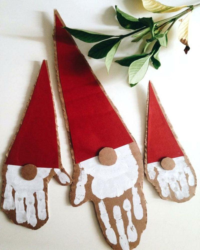 basteln mit handabdruck weihnachten inspirierende ideen. Black Bedroom Furniture Sets. Home Design Ideas