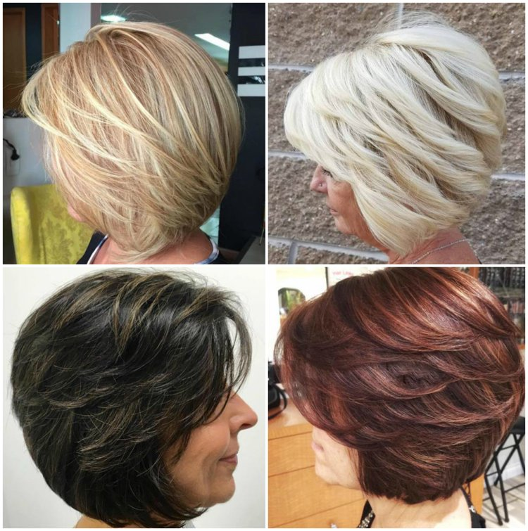 Frisuren 50 plus Bob A Linie
