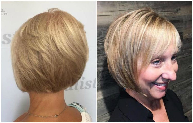 Frisuren 50 plus Bob feines Haar