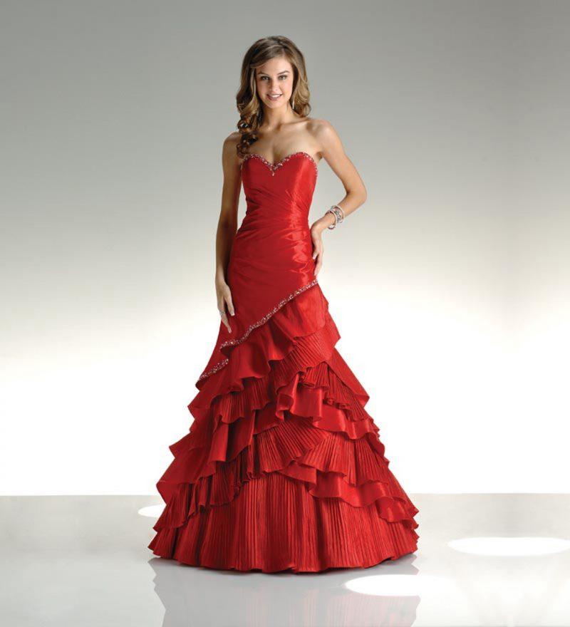 rote Brautkleider Rock prachtvoll