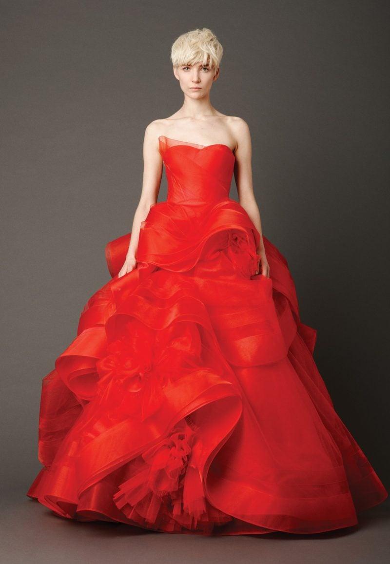 rote Brautkleider Knallrot Vera Wang