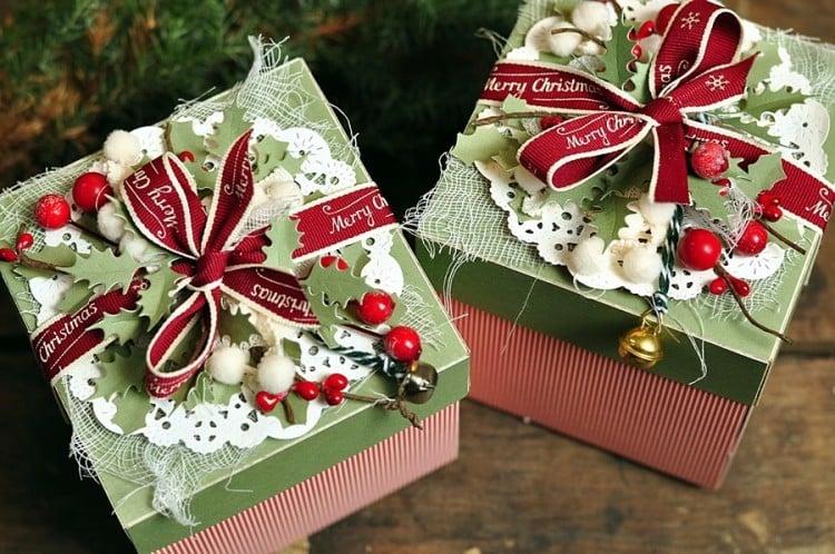 Explosionsbox Anleitung Weihnachten Deckel toll verzieren
