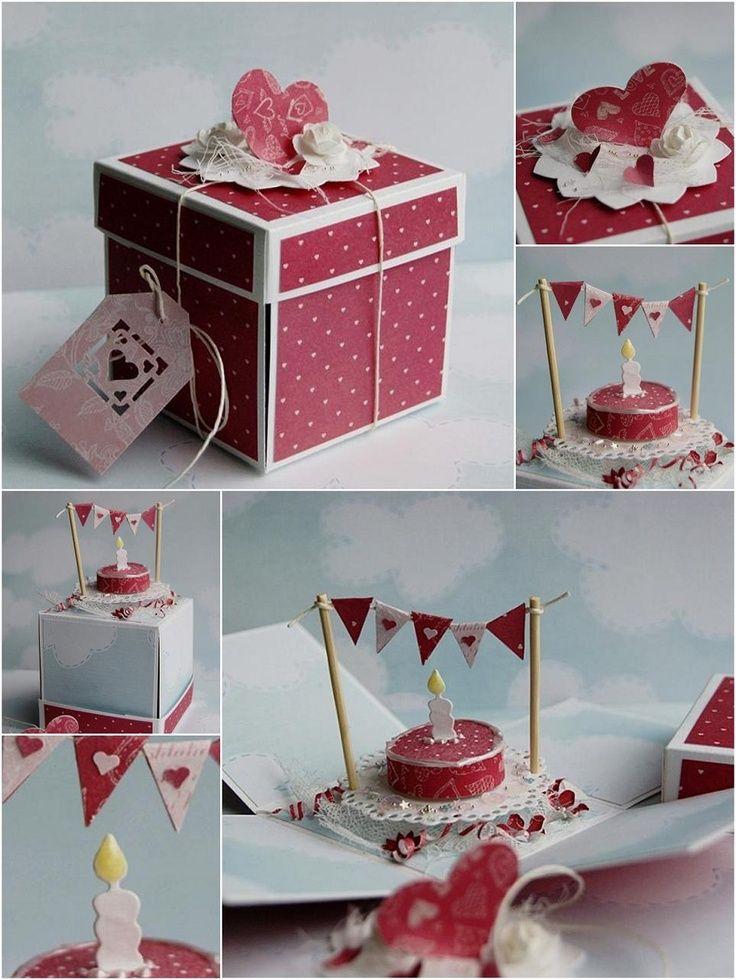 Explosionsbox Anleitung zum Geburtstag