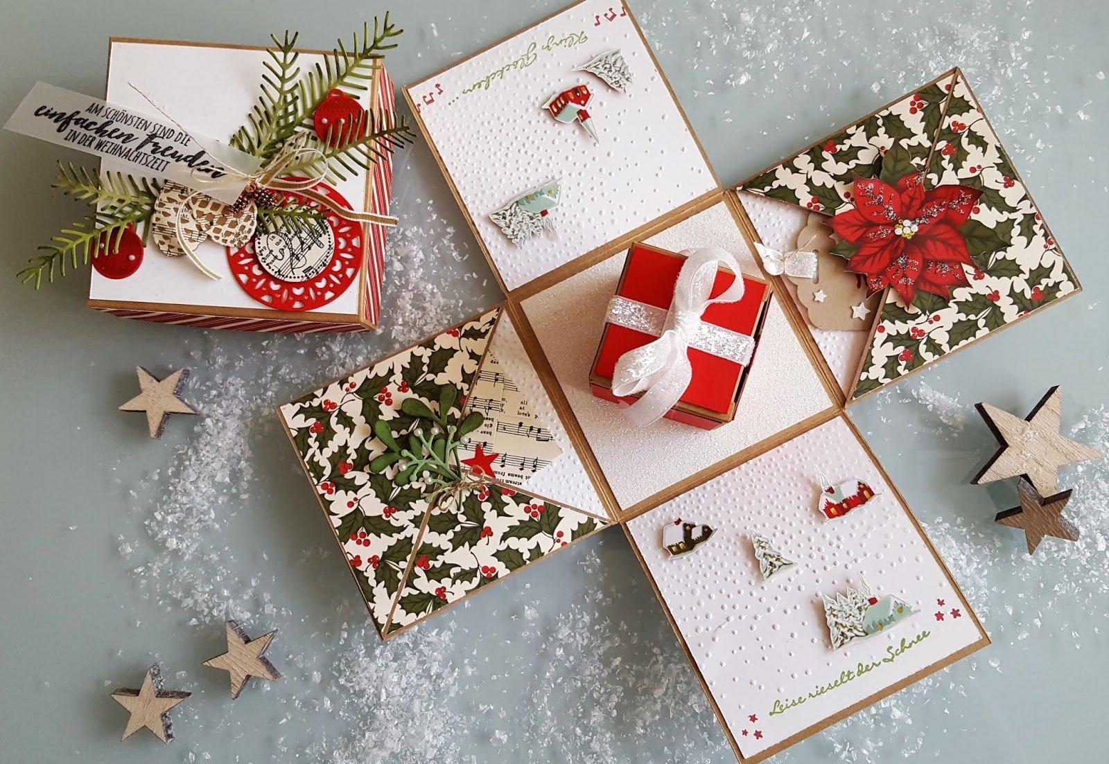 Explosionsbox Anleitung Inneres kleines Geschenk