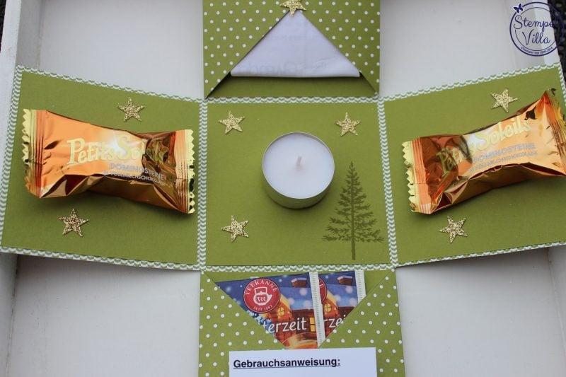 Explosionsbox Anleitung Teelicht originell