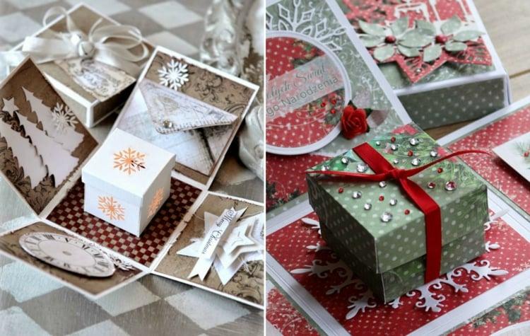 Explosionsbox Anleitung Geschenk Weihnachten