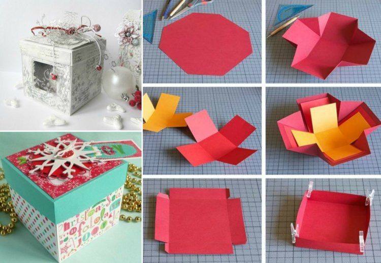 diy explosionsbox anleitung tolle bastelidee zu weihnachten. Black Bedroom Furniture Sets. Home Design Ideas
