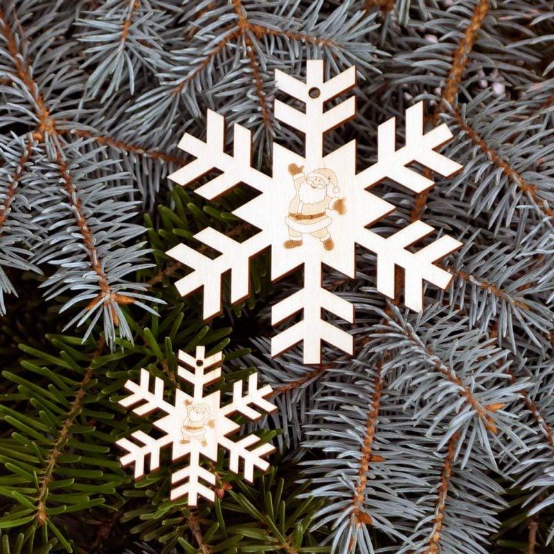 Schneeflocken basteln Christbaumschmuck eindrucksvoll