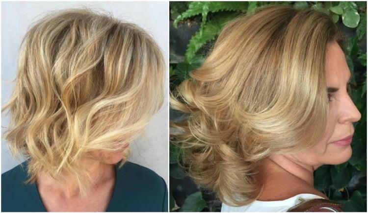 Frisuren 50 plus romantische Wellen gestalten