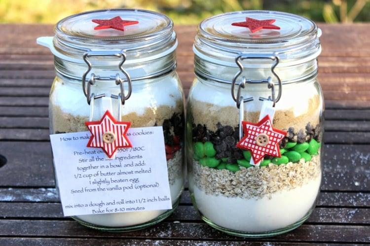 essbare Geschenke im Glas Backmischung Zettel Rezept