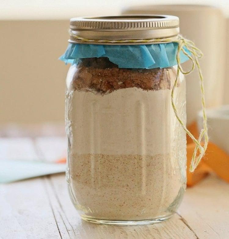 essbare Geschenke im Glas Backmisschung Brownies