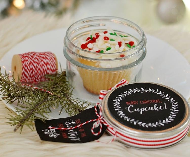 essbare Geschenke im Glas Cupcake