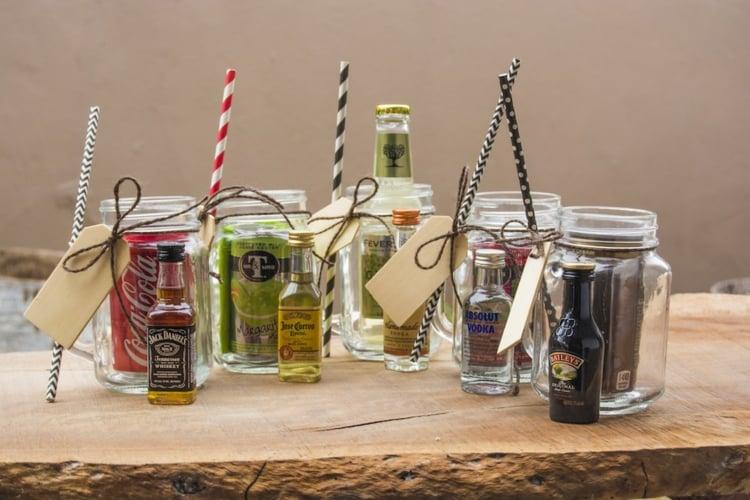 essbare Geschenke im Glas Getränke für Coctails