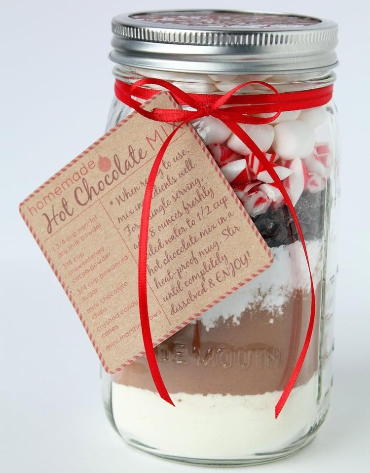 essbare Geschenke im Glas Mischung für heisse Schokolade