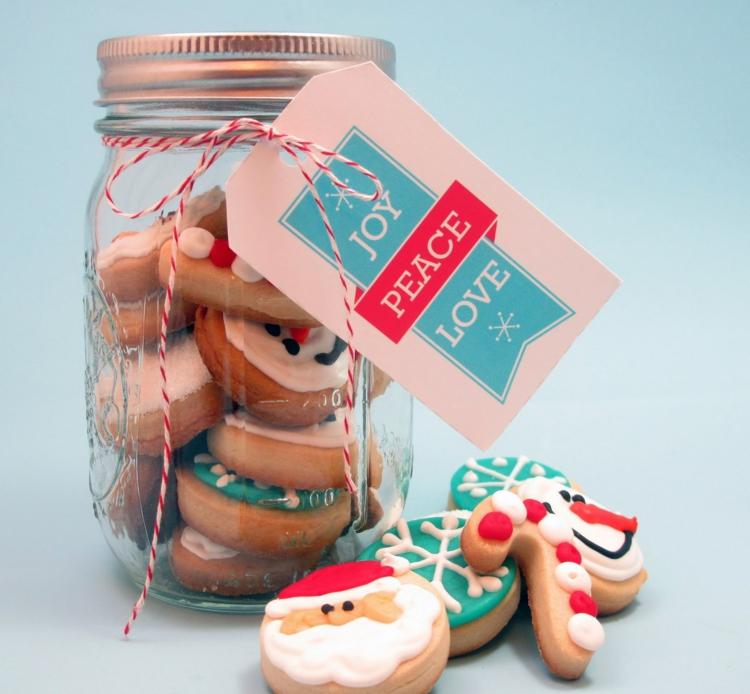 essbare Geschenke im Glas Kekse backen zu Weihnachten