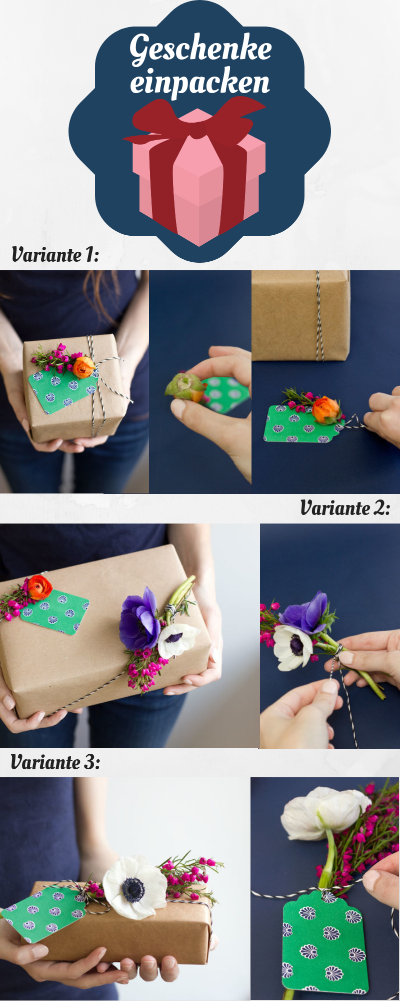 25 ideen f r geschenke einpacken die sch ne verpackung macht das geschenk diy. Black Bedroom Furniture Sets. Home Design Ideas