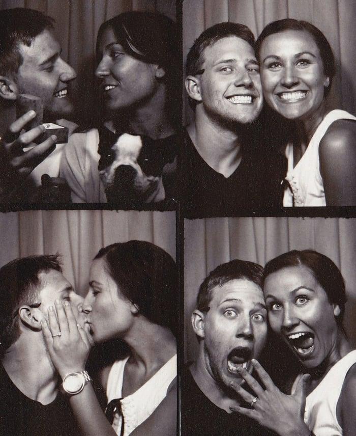 Hochzeitsantrag Fotobox tolle Idee